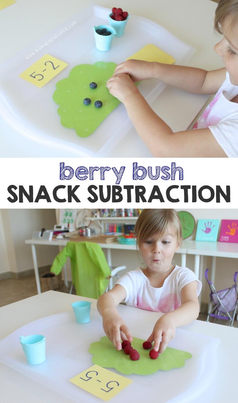 Berry Bush Snack Subtraction | Mama Papa Bubba