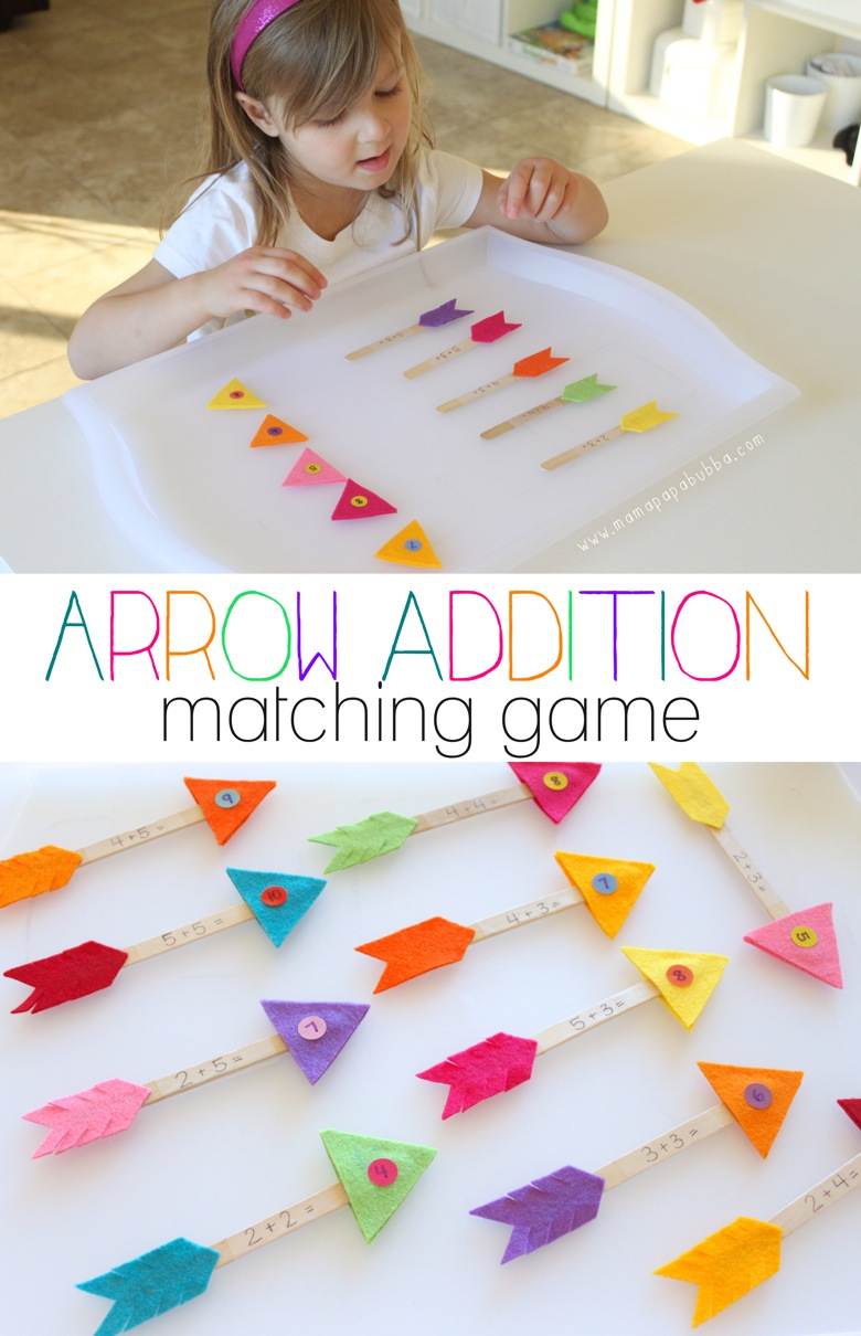 Addition Arrows Matching Game | Mama Papa Bubba