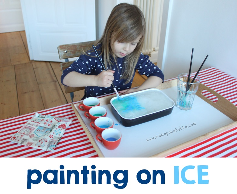 Painting on Ice | Mama Papa Bubba