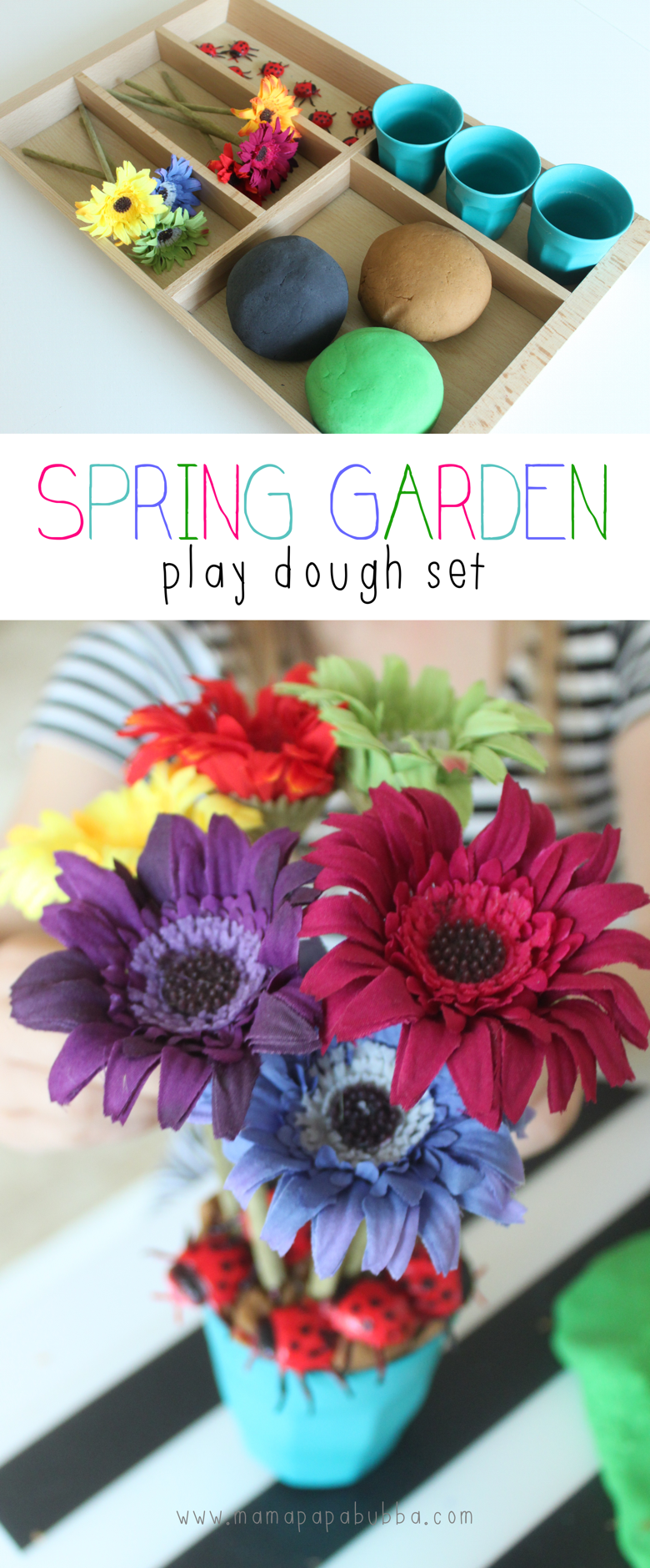 Spring Garden Play Dough Set | Mama Papa Bubba