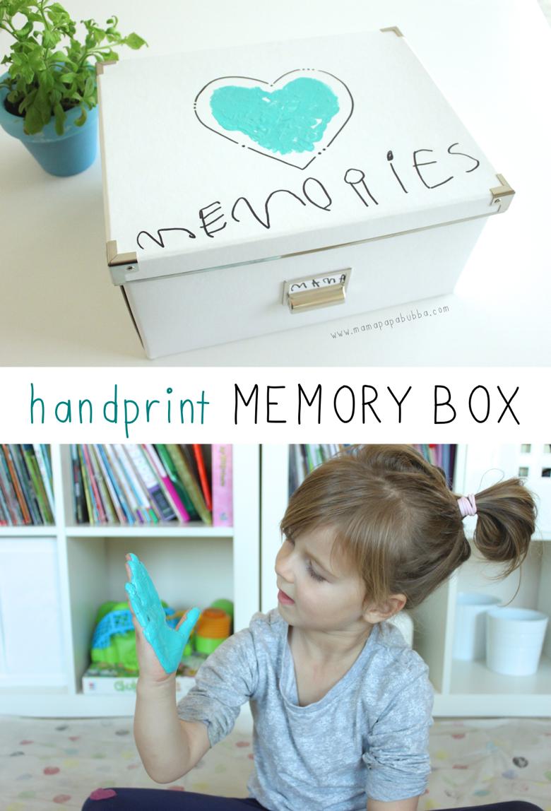 Handprint Memory Box | Mama Papa Bubba