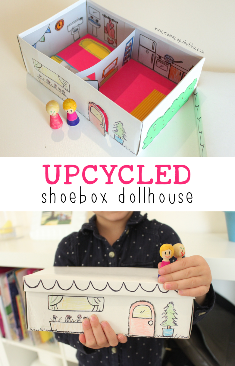 Upcycled Shoebox Dollhouse | Mama Papa Bubba