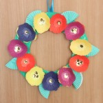 Cupcake Liner Flower Wreath