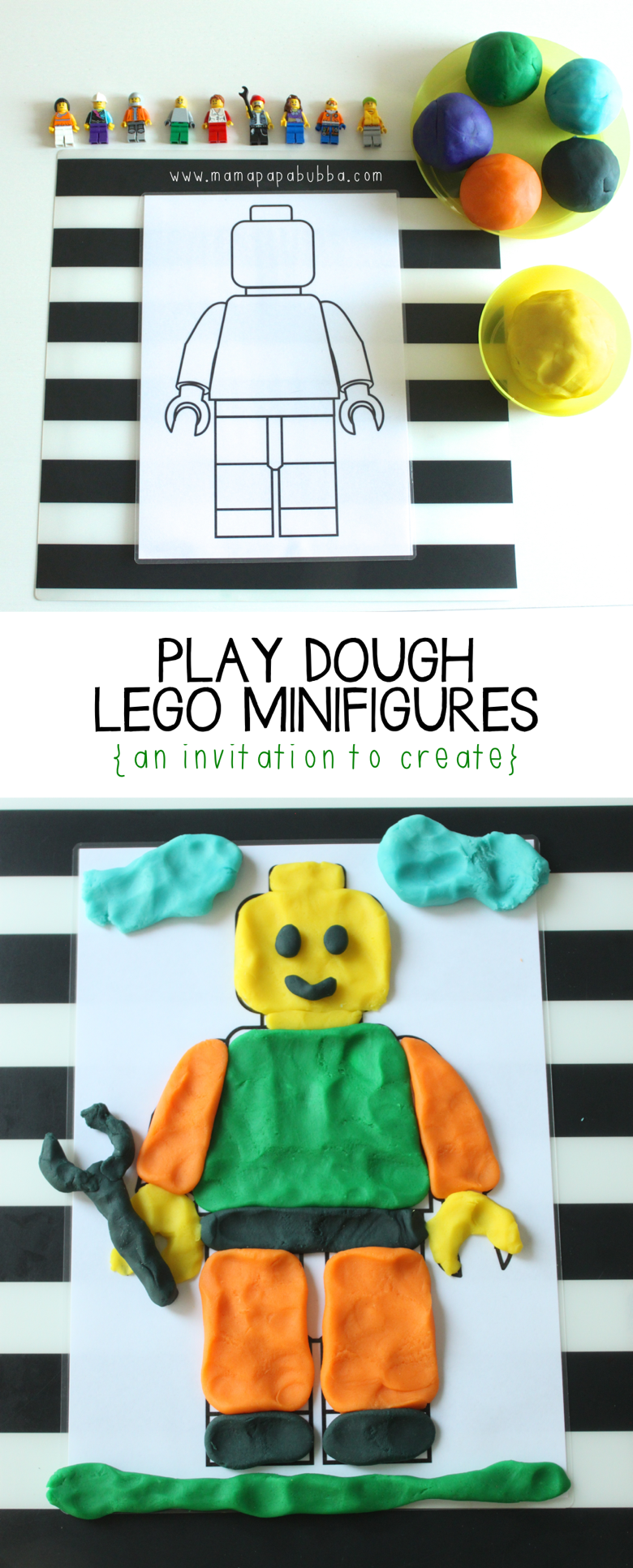 Play Dough LEGO Minifigures | Mama Papa Bubba
