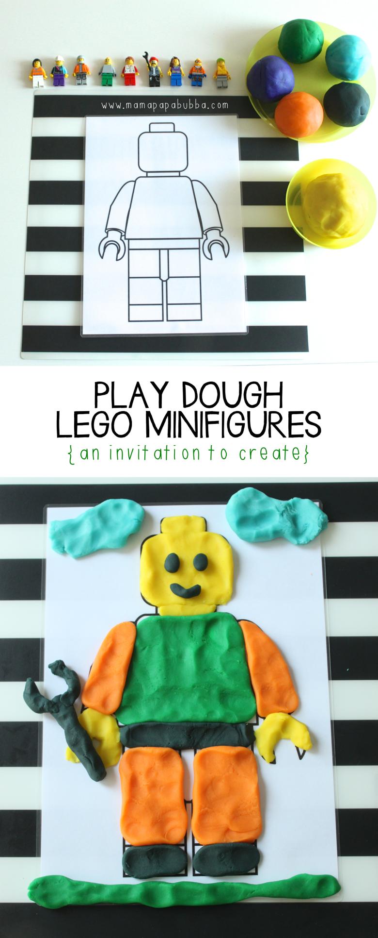 Play Dough LEGO Minifigures | Mama Papa Bubba