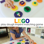 LEGO Play Dough Imprint Matching Game
