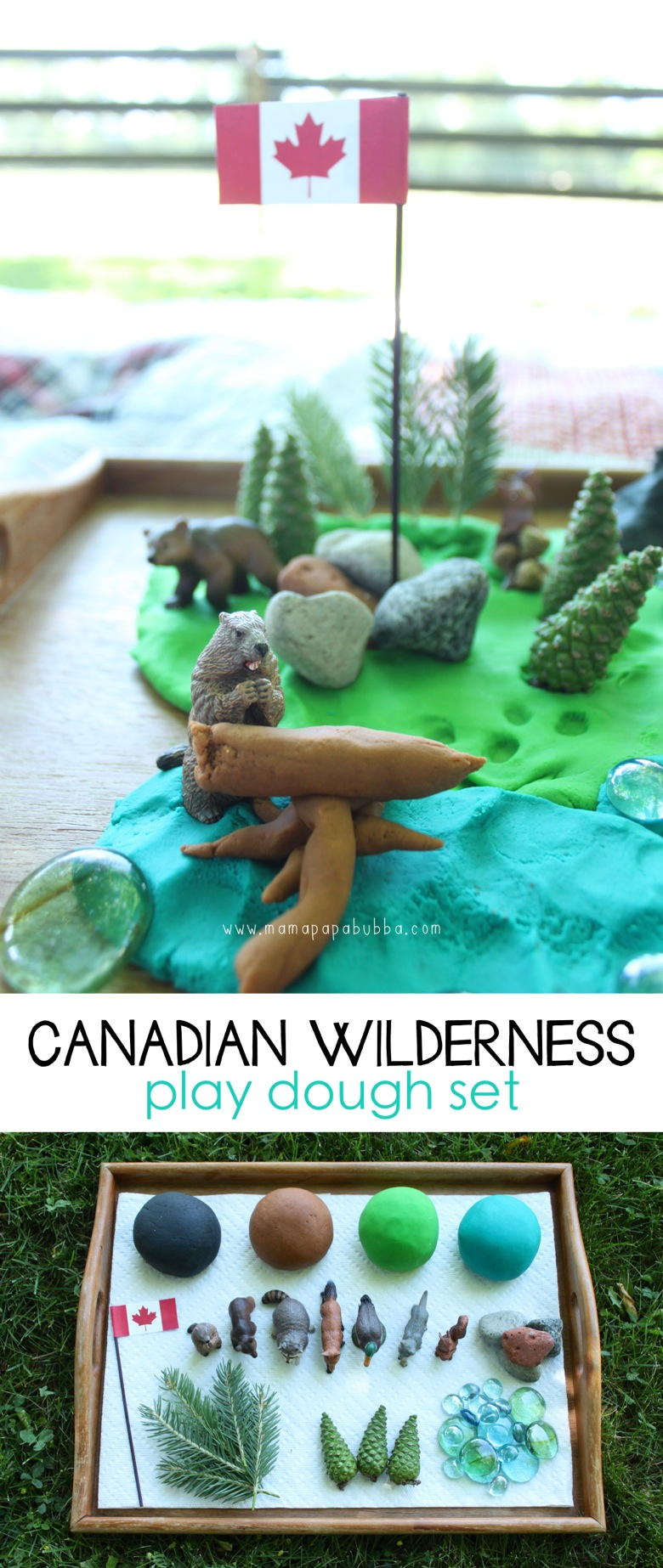 Canadian Wilderness Play Dough Set | Mama Papa Bubba