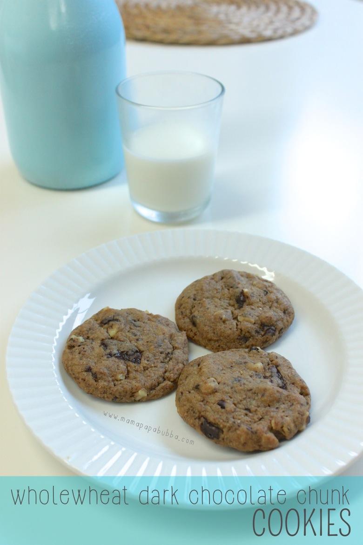 Wholewheat Dark Chocolate Chunk Cookies | Mama Papa Bubba