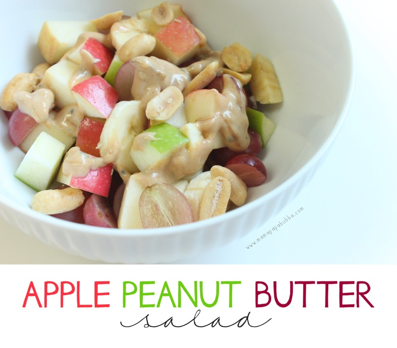 Sweet Apple Peanut Butter Salad | Mama Papa Bubba