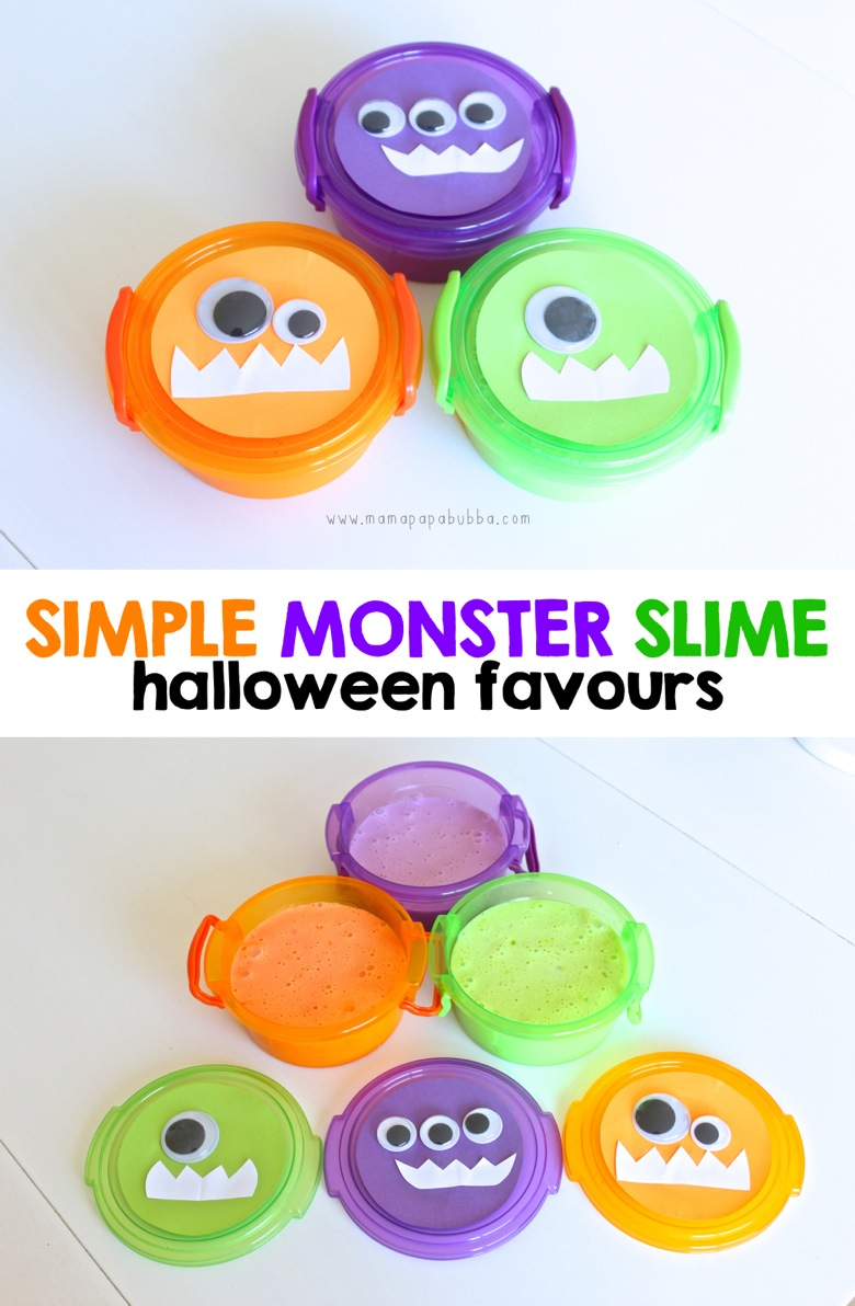 Simple Monster Slime Halloween Favours | Mama Papa Bubba