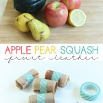 Homemade Apple Pear Squash Fruit Leather