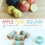 Homemade Apple Pear Squash Fruit Leather
