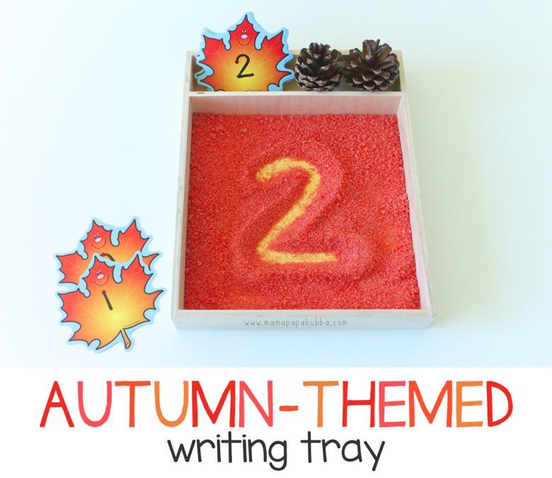 Autumn Themed Writing Tray | Mama Papa Bubba