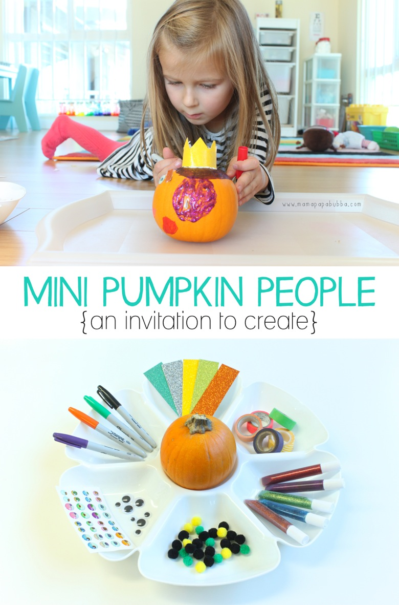 Mini Pumpkin People Invitation to Create | Mama Papa Bubba