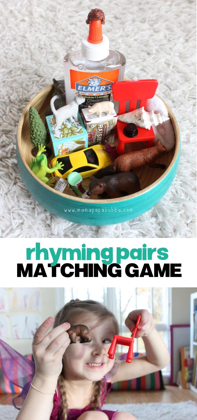 Rhyming Pairs Matching Game | Mama Papa Bubba