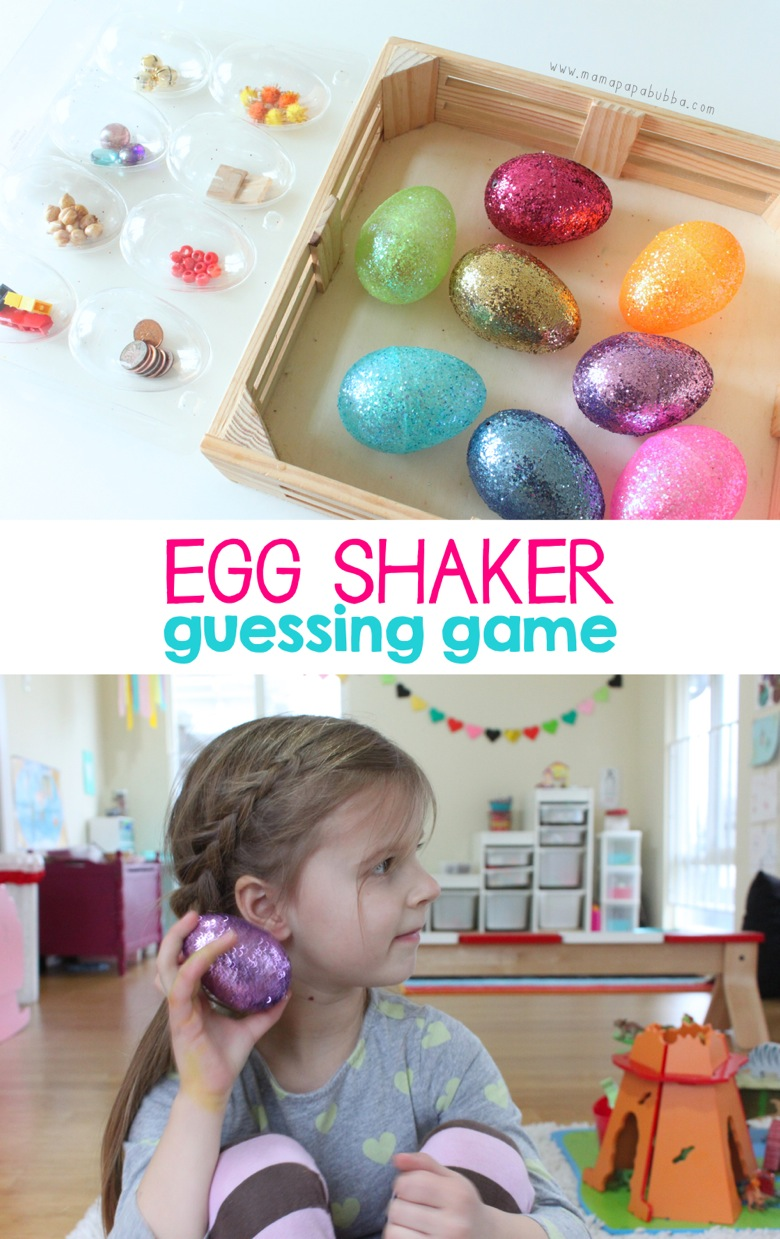 Egg Shaker Guessing Game | Mama Papa Bubba