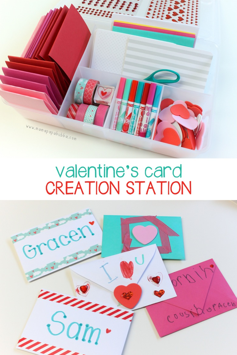 Valentine s Card Creation Station | Mama Papa Bubba