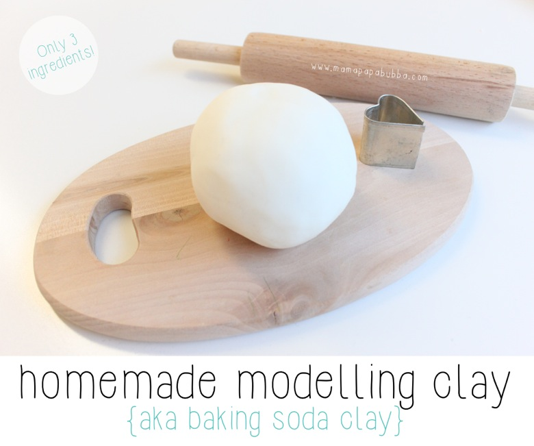 Homemade Air-Dry Modelling Clay {aka baking soda clay