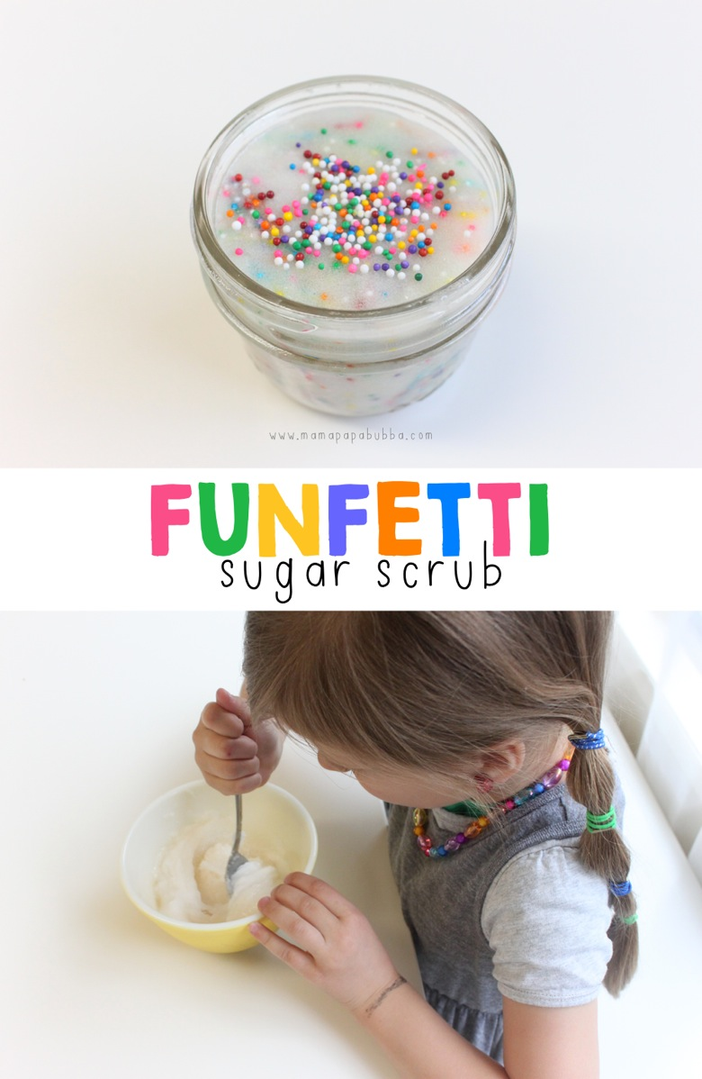 Funfetti Sugar Scrub | Mama Papa Bubba