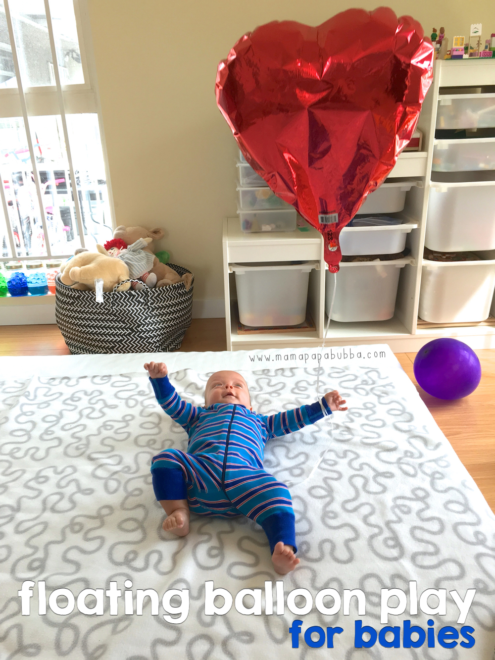 Floating Balloon Play for Babies | Mama.Papa.Bubba.