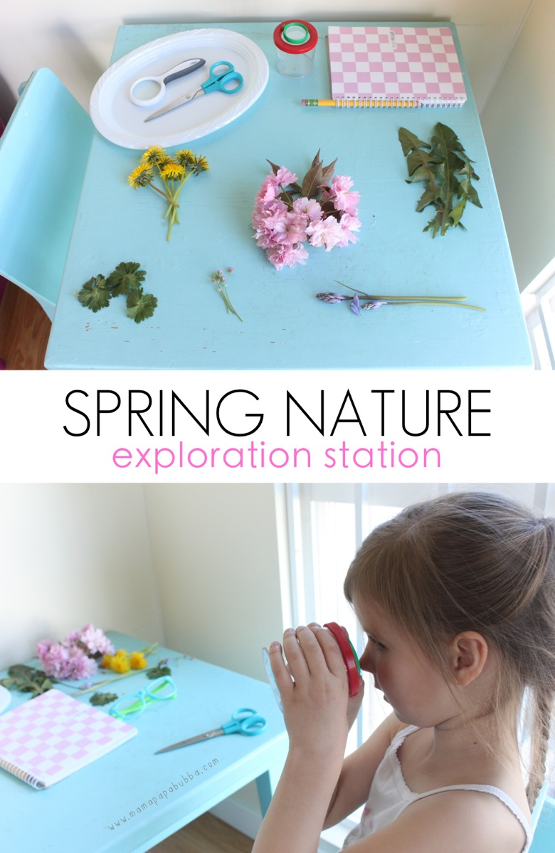 Spring Nature Exploration Station | Mama Papa Bubba