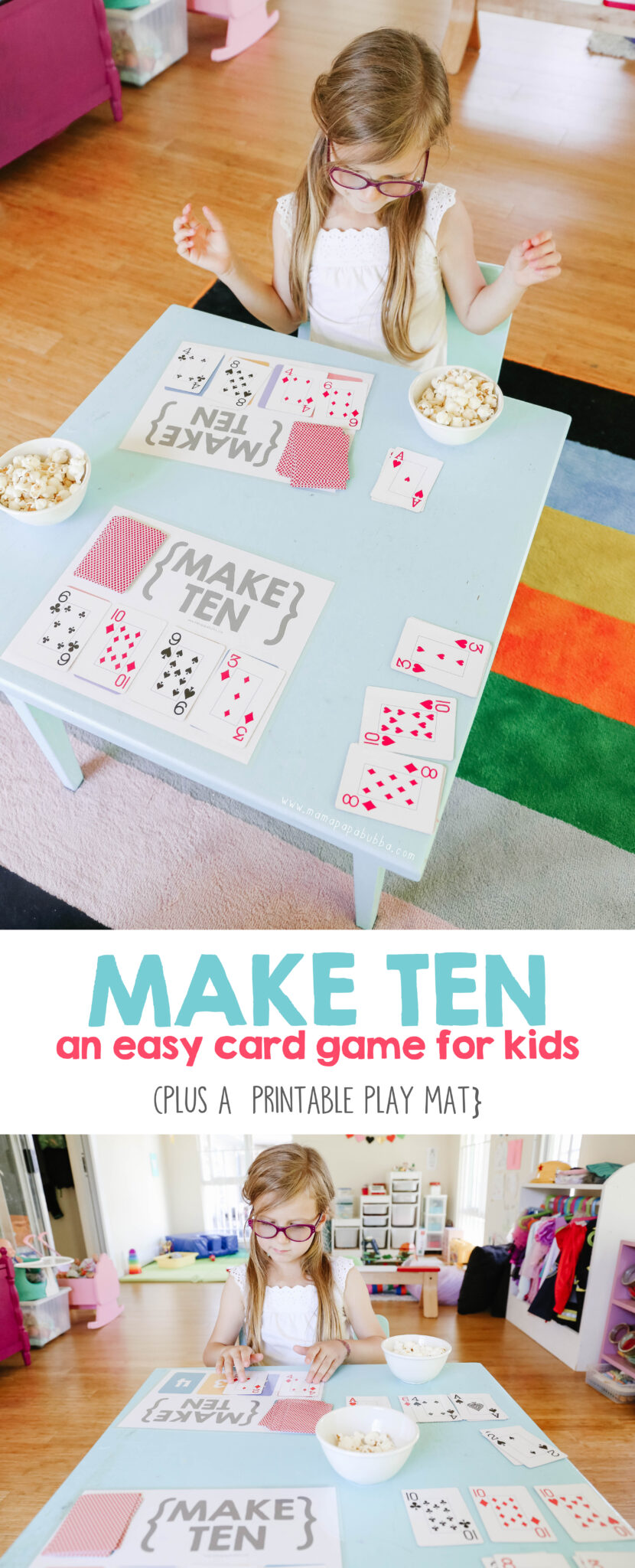 photograph about Printable Card Games identify Create 10 an straightforward card match for young children - Mama.Papa.Bubba.