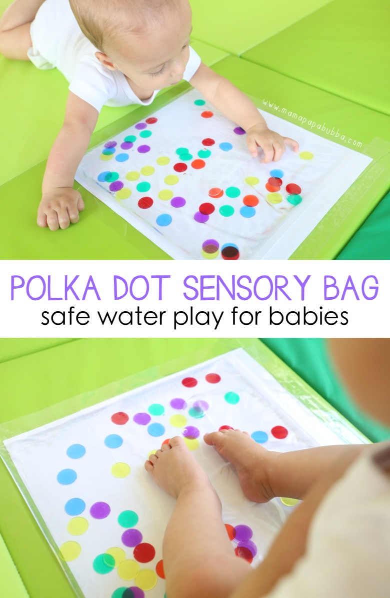 Polka Dot Sensory Bag for Baby | Mama Papa Bubba