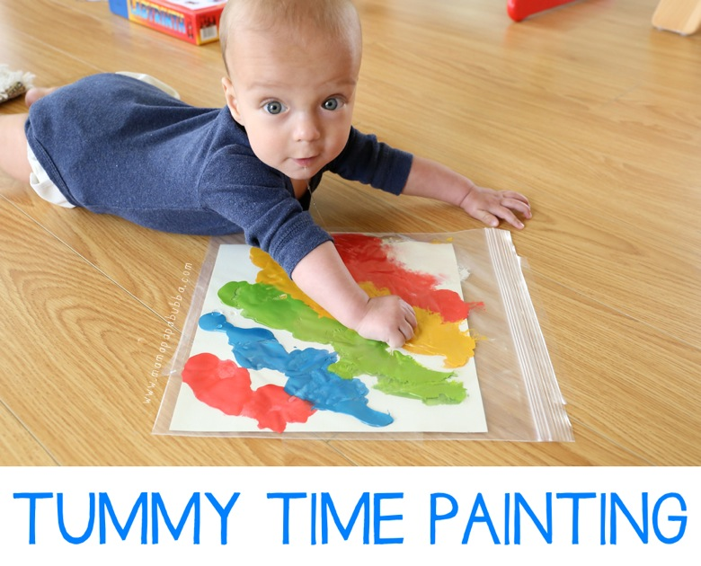 Tummy Time Painting | Mama Papa Bubba