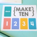 Make Ten {an easy card game for kids}