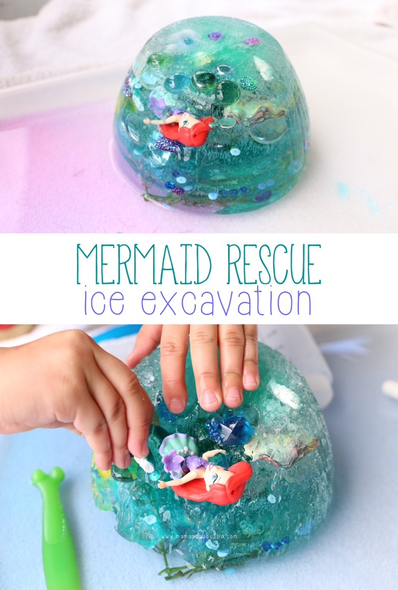 Mermaid Rescue Ice Excavation | Mama Papa Bubba