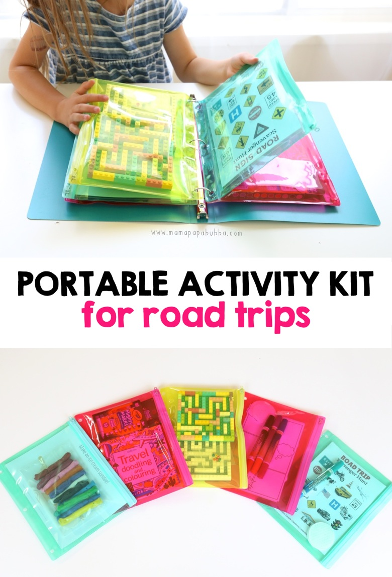 Portable Activity Kit for Road Trips | Mama Papa Bubba