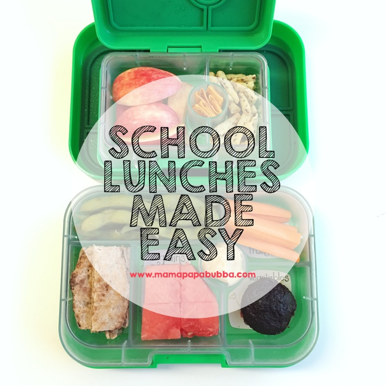School Lunches Made Easy | Mama Papa Bubba