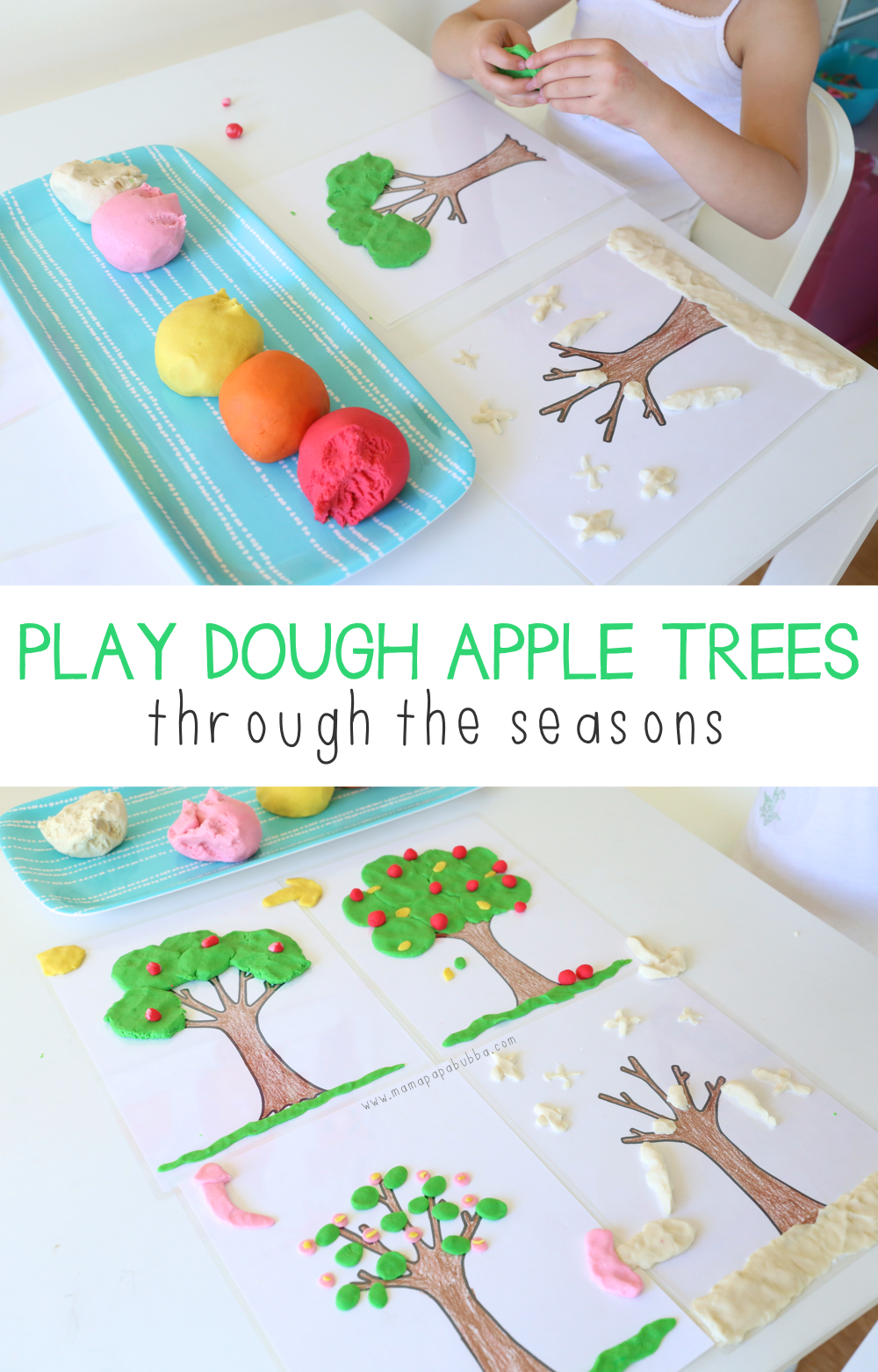 play-dough-apple-trees-through-the-seasons-mama-papa-bubba