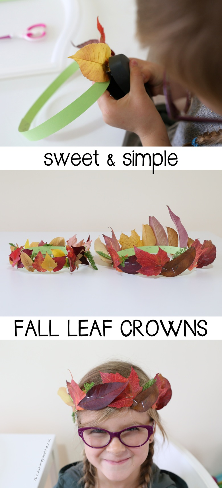 Sweet Simple Fall Leaf Crowns | Mama Papa Bubba