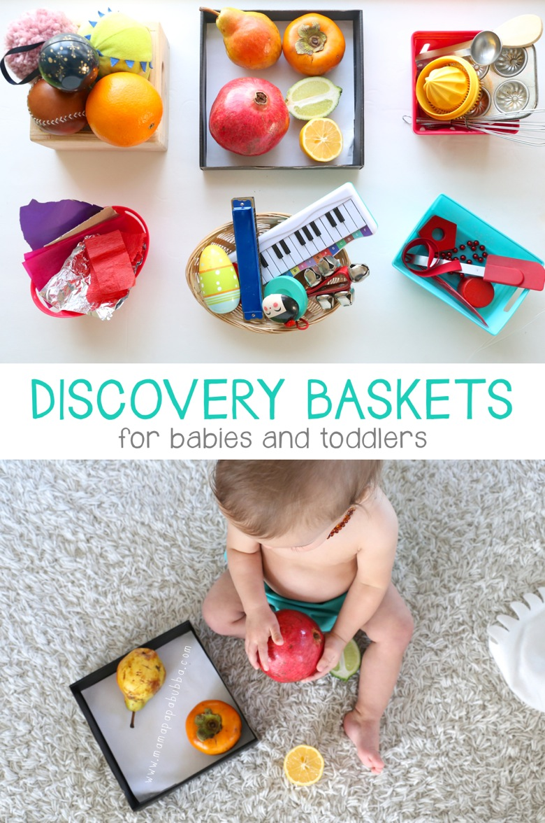 Discovery Baskets for Babies and Toddlers | Mama Papa Bubba