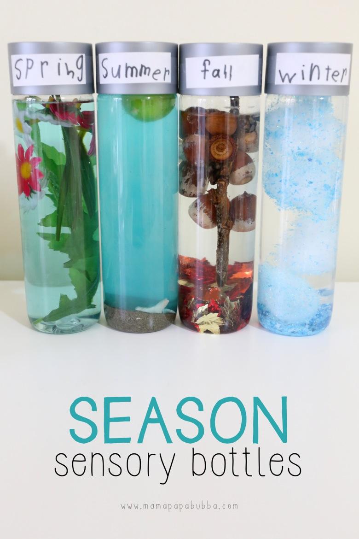 Season Sensory Bottles | Mama Papa Bubba