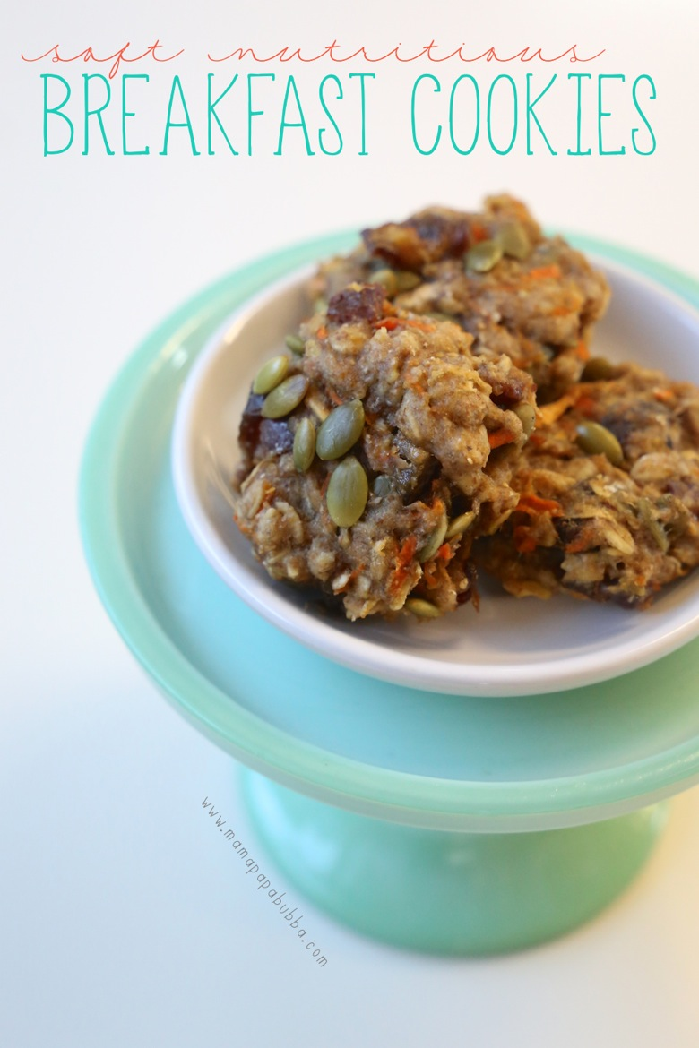 Soft Nutritious Breakfast Cookies | Mama Papa Bubba