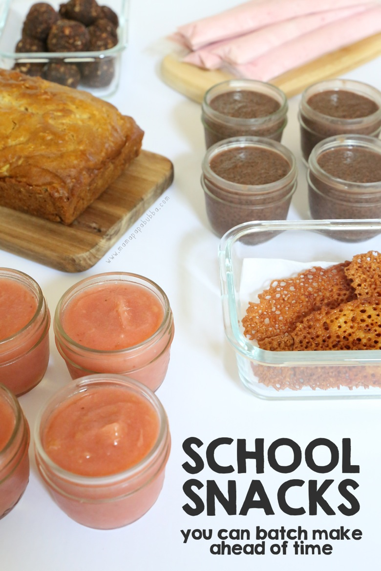 School Snacks You Can Batch Make Ahead of Time | Mama Papa Bubba