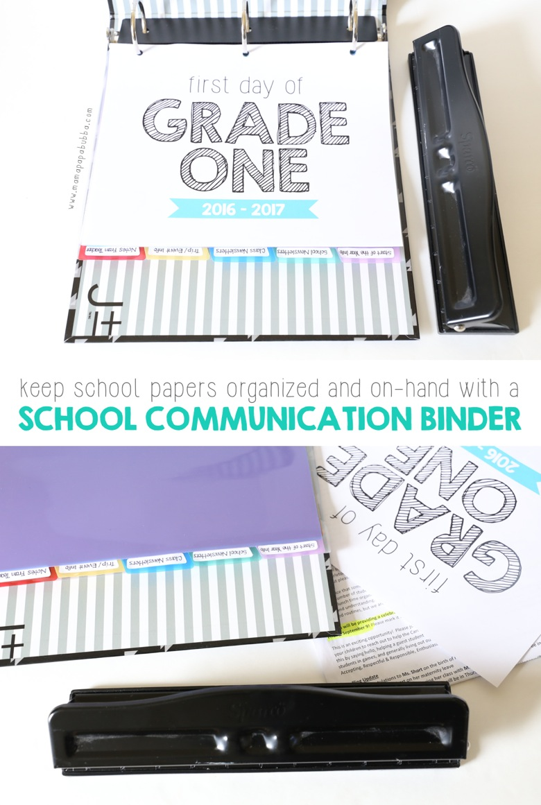 School Communication Binder | Mama Papa Bubba