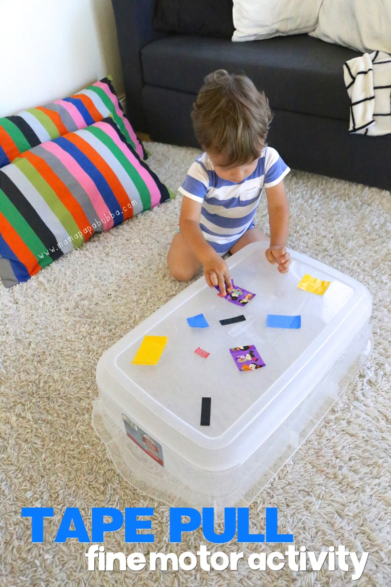 Tape Pull Fine Motor Activity | Mama Papa Bubba
