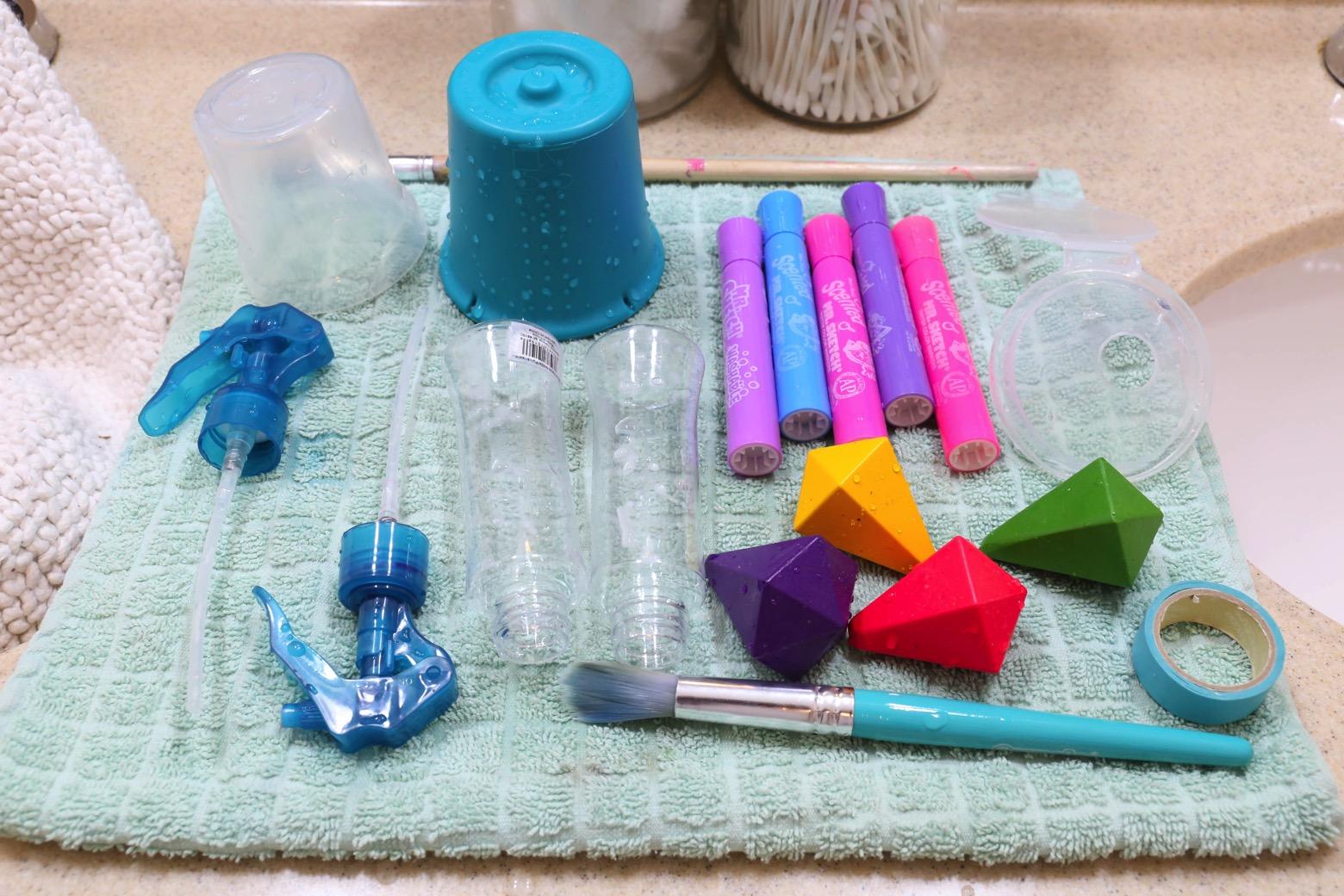 Bath Tub Art Studio Clean Up