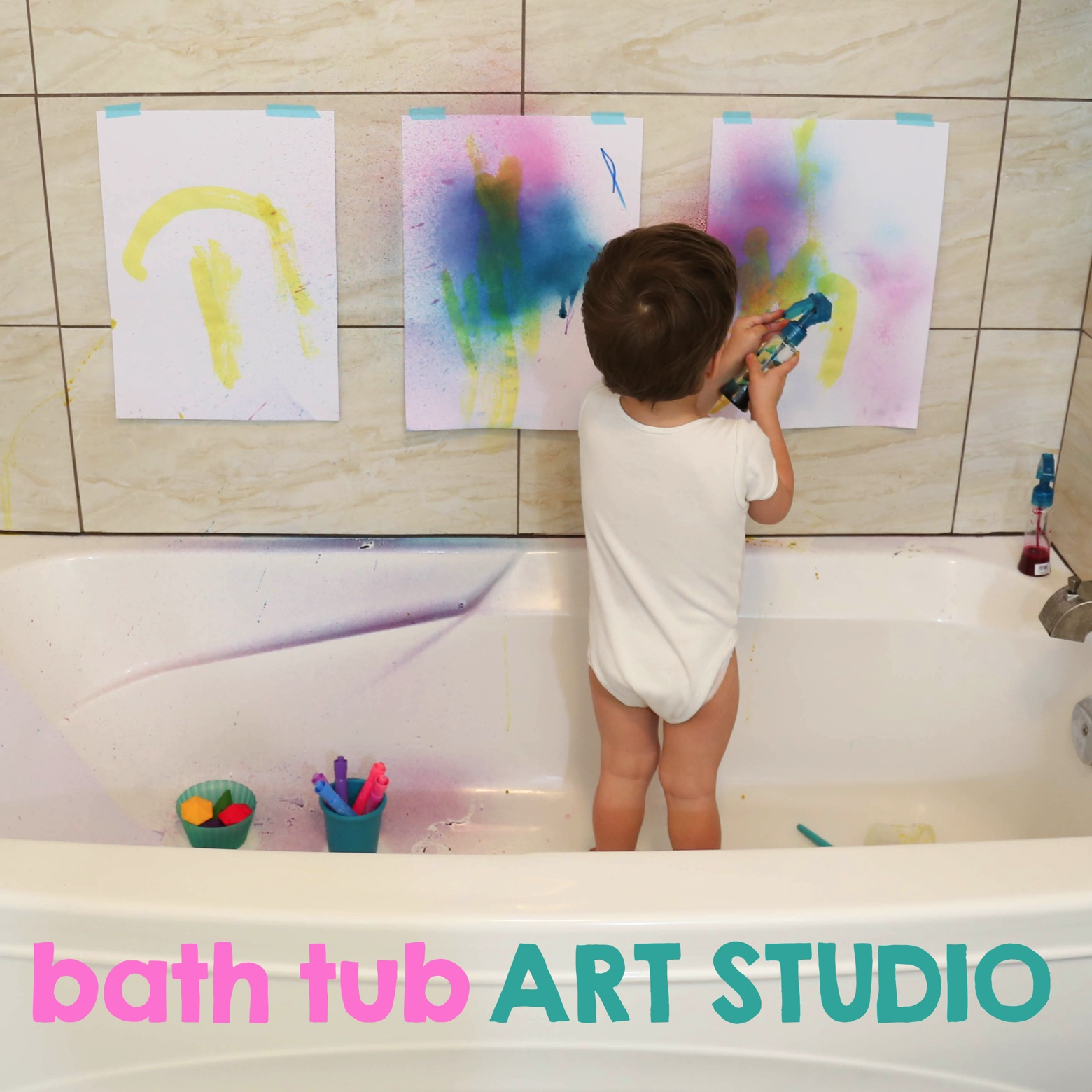 Bath Tub Art Studio   Mama Papa Bubba