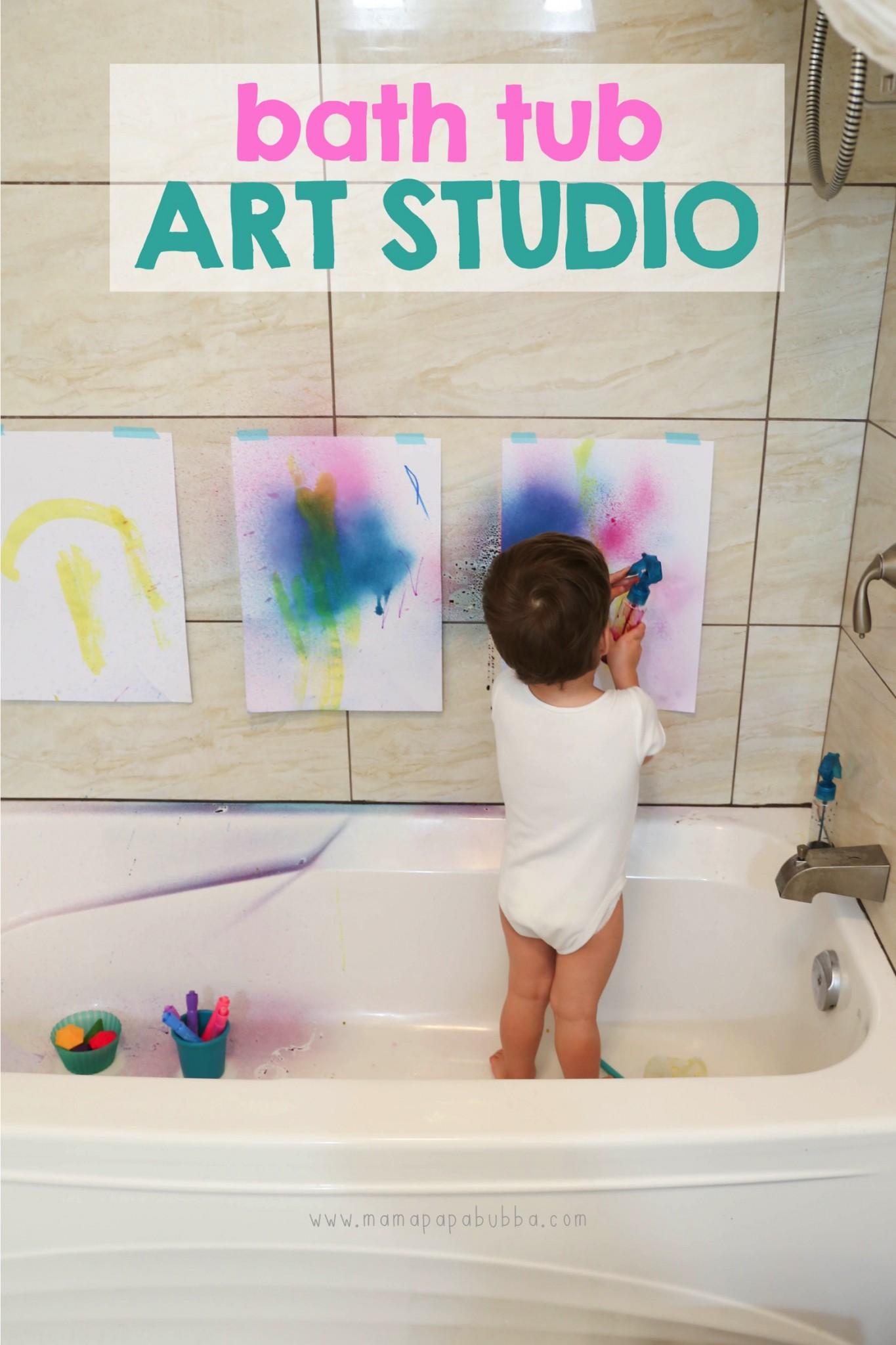 Bath Tub Art Studio | Mama Papa Bubba