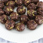Chocolate Cranberry Pumpkin Seed Bliss Balls