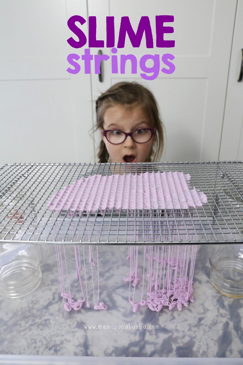Slime Strings With Slime a Cooling Rack | Mama Papa Bubba
