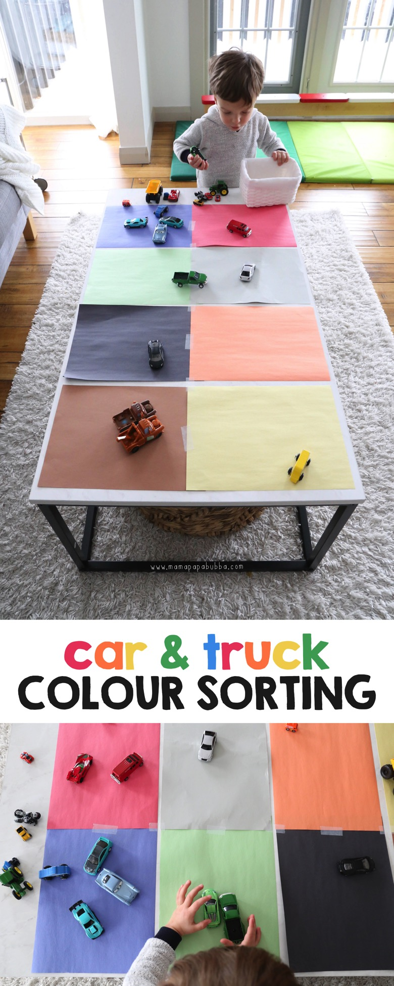 Colour Sorting with Cars and Trucks | Mama Papa Bubba
