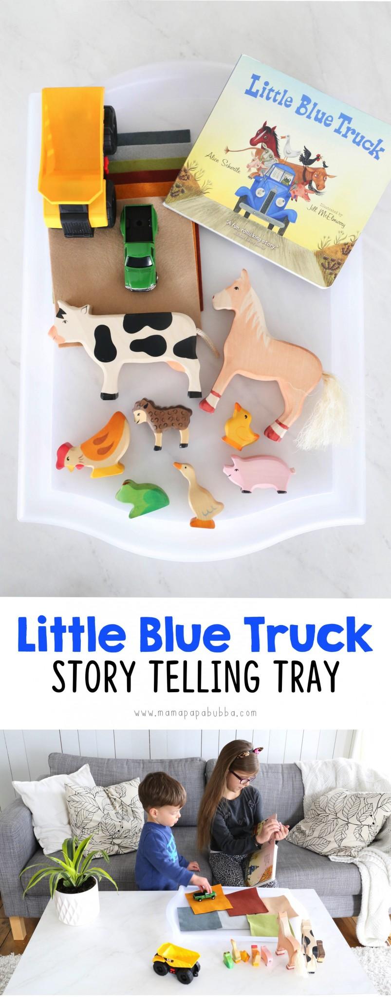 Little Blue Truck Story Telling Tray | Mama Papa Bubba