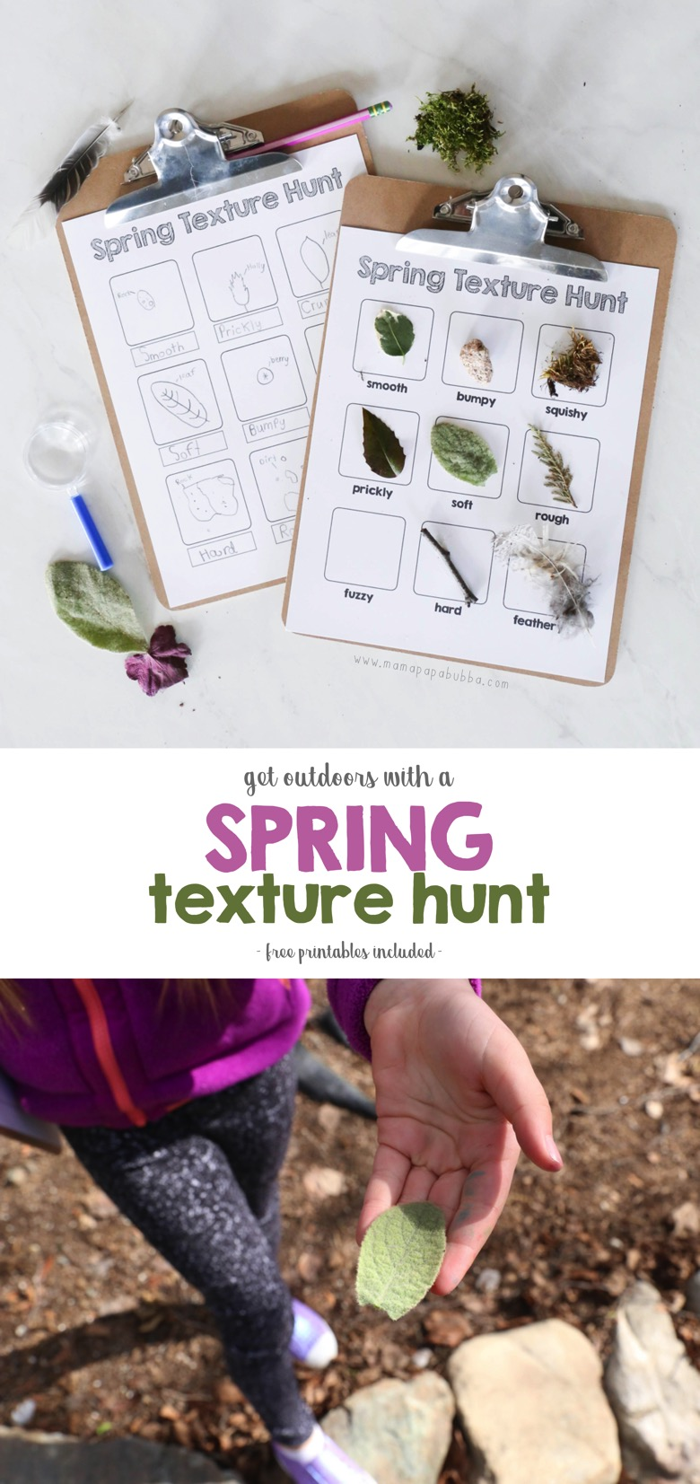Spring Texture Hunt long | Mama Papa Bubba