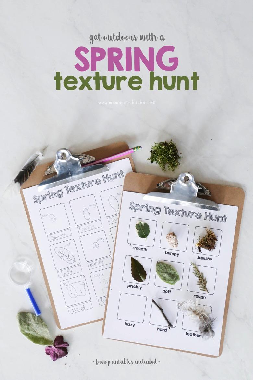 Spring Texture Hunt | Mama Papa Bubba