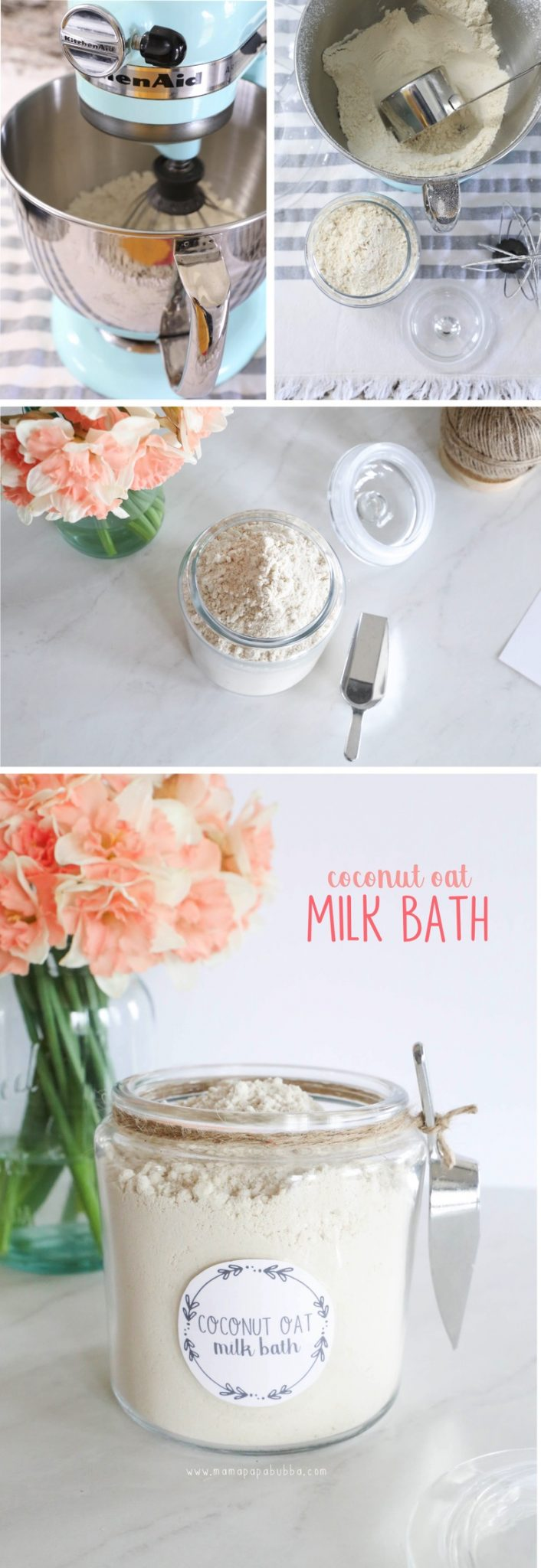 Easy DIY Coconut Oat Milk Bath | Mama Papa Bubba